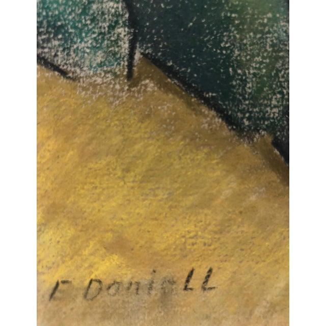 """1930s 1930s Signed Chalk California Landscape """"Larkspur"""" For Sale - Image 5 of 8"""