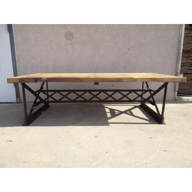 Urban Industrial Metal Rivet Truss Surfboard Coffee Table For Sale - Image 4 of 4