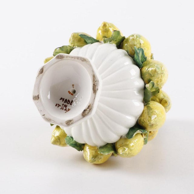 Vintage Mid-Century Italian Ceramic Lemon Centerpiece For Sale - Image 9 of 11