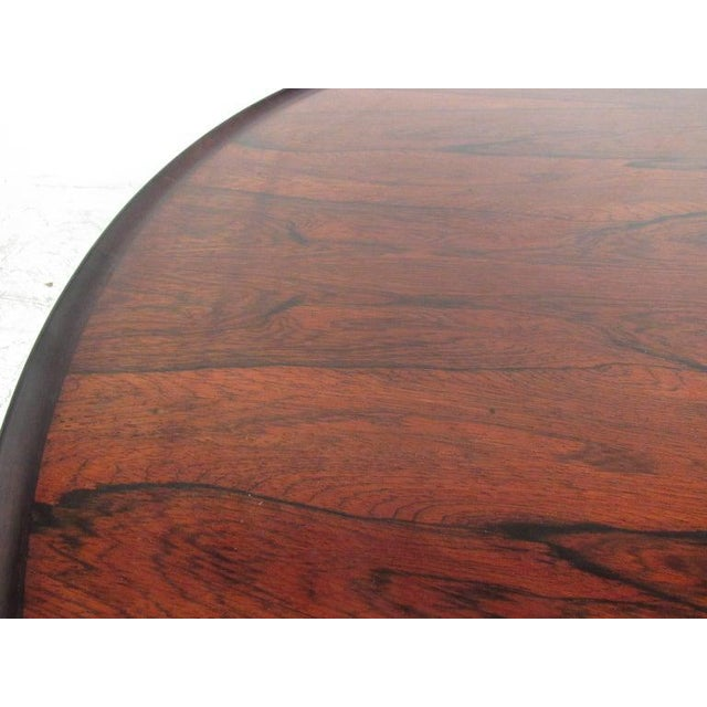 Vintage Scandinavian Rosewood Coffee Table by Haug Snekkeri for Bruksbo For Sale - Image 12 of 13