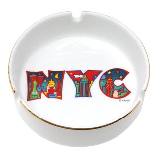 Vintage New York City N. Y. C. Skyline Ceramic Ashtray For Sale