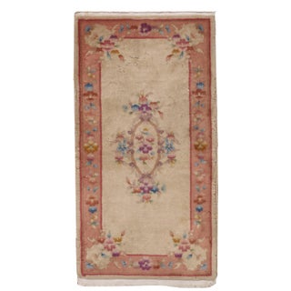 1930s Antique Art Deco Chinese Rug - 2′ × 3′10″