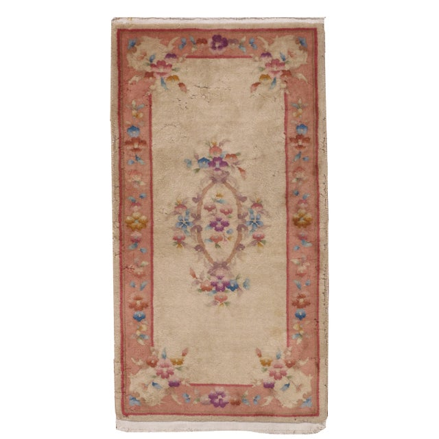 1930s Antique Art Deco Chinese Rug - 2′ × 3′10″ For Sale