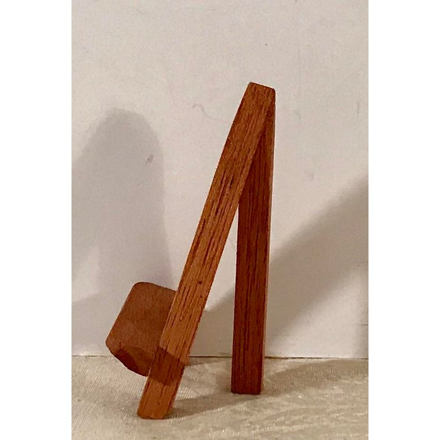 Wood Modern Wooden Mini-Easels - a Pair For Sale - Image 7 of 9