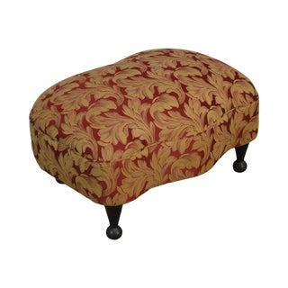 Modern Art Deco Style Custom Upholstered Ottoman For Sale