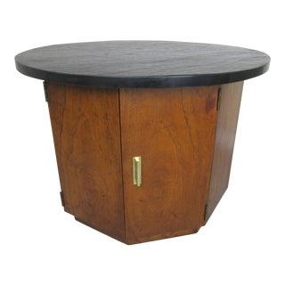 Dunbar Slate Top Drum Style Table