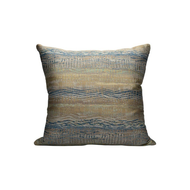 Transitional Scalamandre Ceres Pillow, Galaxy For Sale - Image 3 of 3