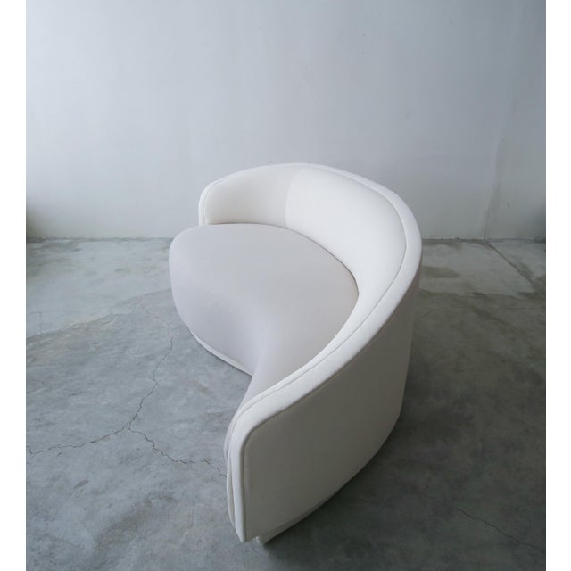 Petite Curved Sofa & Ottoman by Vladimir Kagan for Weiman For Sale In Las Vegas - Image 6 of 10