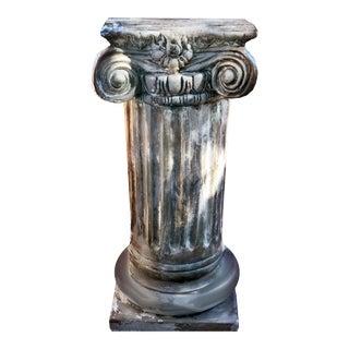 1963 Vanguard Studios Cast Neoclassical Style Ionic Column Pedestal For Sale