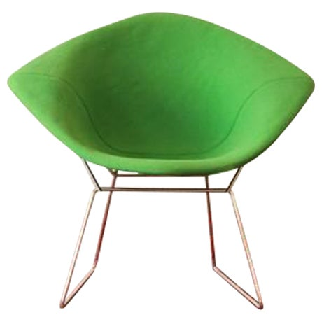 Green Diamond Chair by Harry Bertoia for Knoll For Sale