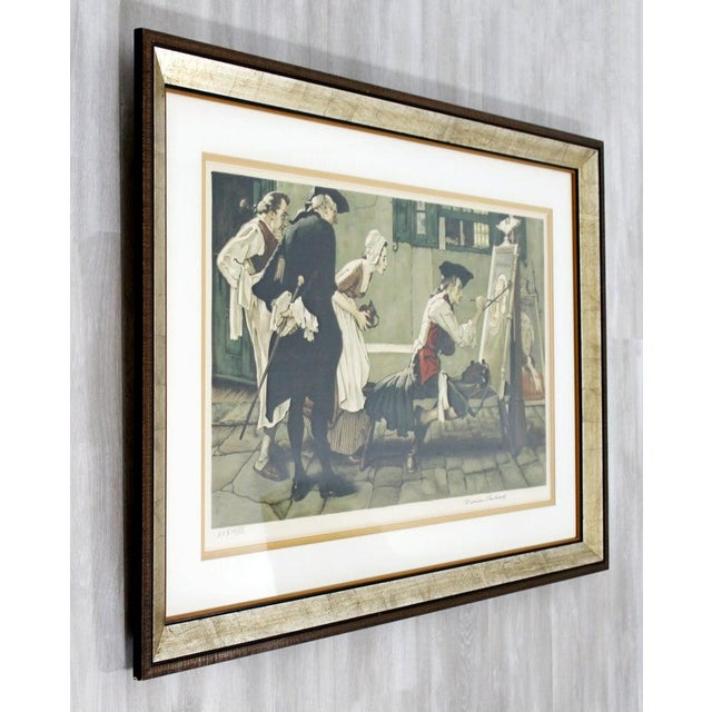 Lithograph 20th Century Framed Modern Illustration A.P. Litho Signed Norman Rockwell, 1936 For Sale - Image 7 of 11