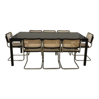 Black Stained Parson's Table & Chairs Dining Set