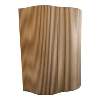 Pickeled Oak Undulated Screen/Room Divider