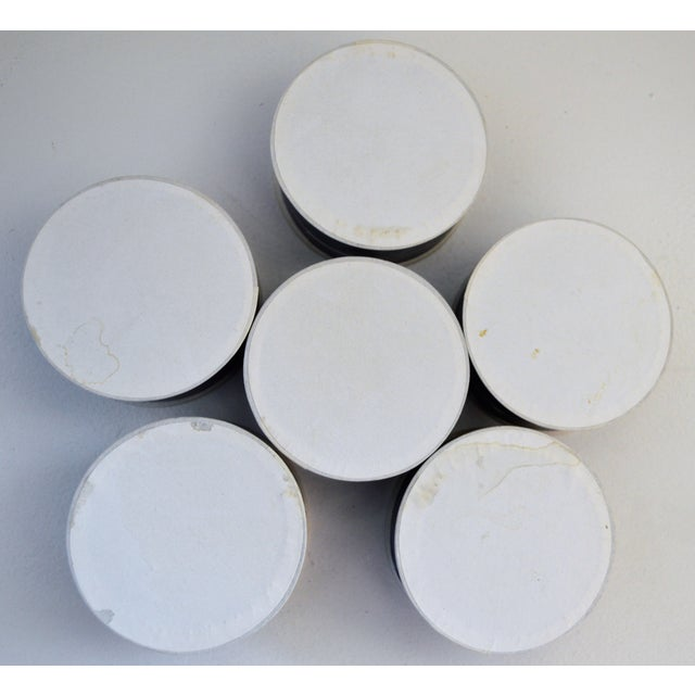 French 6 PillBox Paper Antique Drugstore Apothecary Pharmacie Blue White French Lot For Sale - Image 3 of 9
