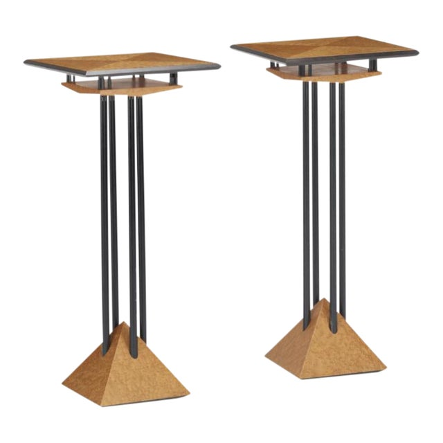 Modern Plant Stands - A Pair - Image 1 of 8