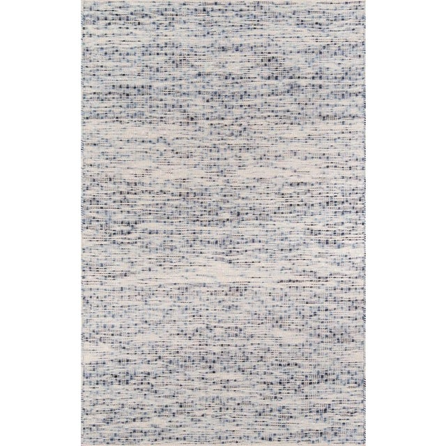 """Blue Erin Gates Dartmouth Bartlett Blue Hand Made Wool Area Rug 3'9"""" X 5'9"""" For Sale - Image 8 of 8"""