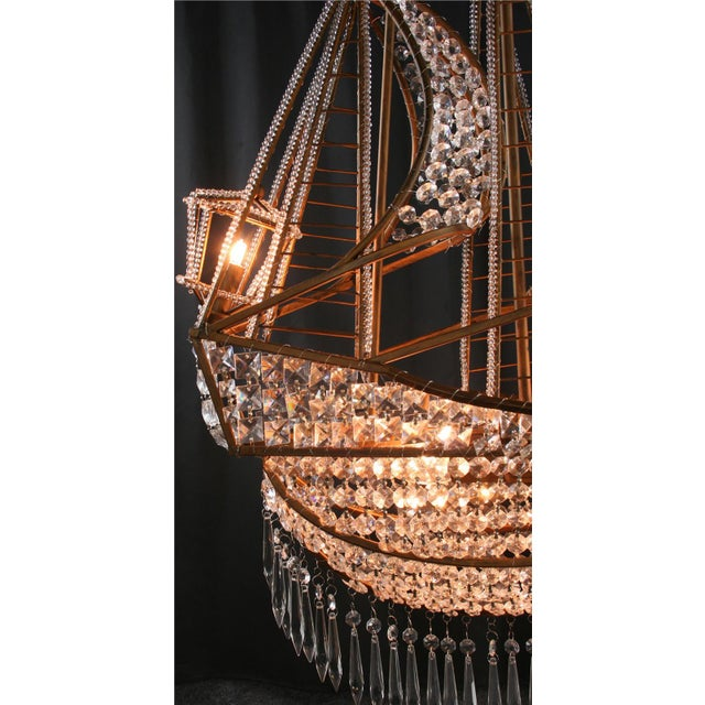 New Large Sailing Ship Crystal Chandelier For Sale - Image 9 of 12