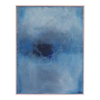 Memory, Blue II. Framed Original Mixed Media by C. Damien Fox