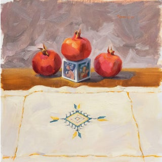 'Still Life With Pomegranates' by Carole Minou, 1989; Carmel Art Association For Sale