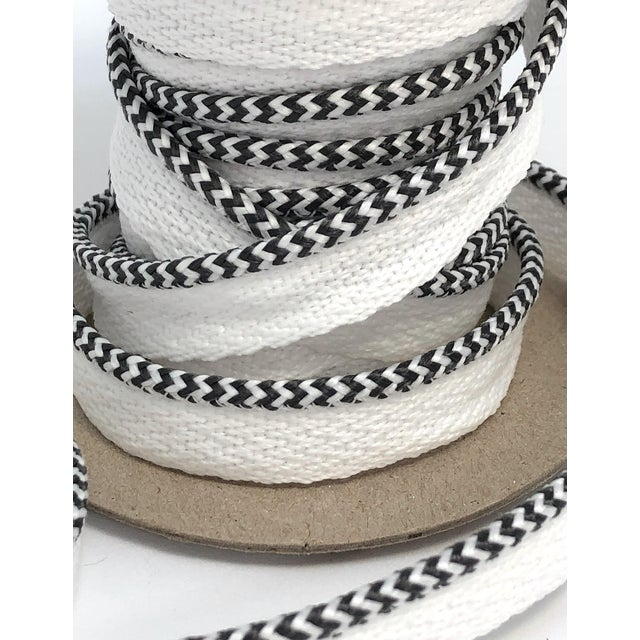 """Braided 1/8"""" Indoor-Outdoor Charcoal/White Cord For Sale In New York - Image 6 of 7"""