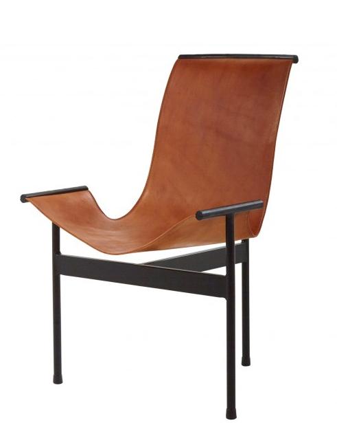 Captivating Leather Sling 3 Leg Zaha Chair   Image 2 Of 5
