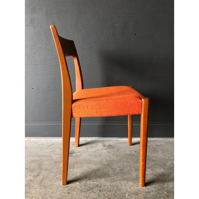 Fabric Swedish Teak Dining Chairs For Sale - Image 7 of 9