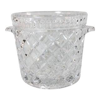 Glass Diamond Pattern Ice Bucket