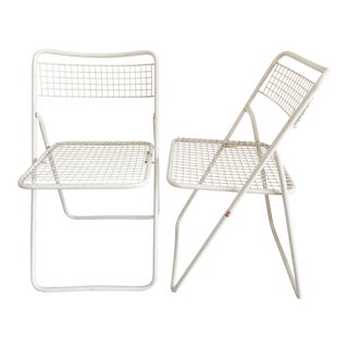 Emu Italy Outdoor Folding Chairs - a Pair For Sale
