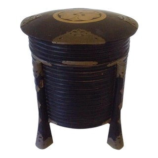 Japanese Black Lacquer Storage Box For Sale