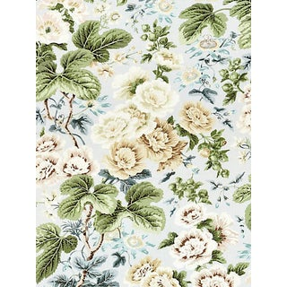 Sample, Scalamandre Highgrove Linen Print, Rain For Sale