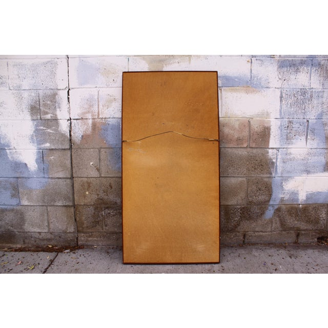 Large Danish Teak Mid Century Wall Mirror For Sale - Image 9 of 11