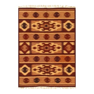Brown Fine Hand Knotted Sami Antique Nw Rug 4'8'' X 6'5'' For Sale