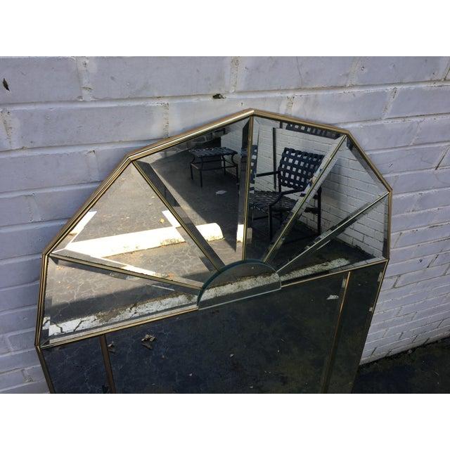 Brass Sculptural Hollywood Regency Mirror - Image 4 of 7