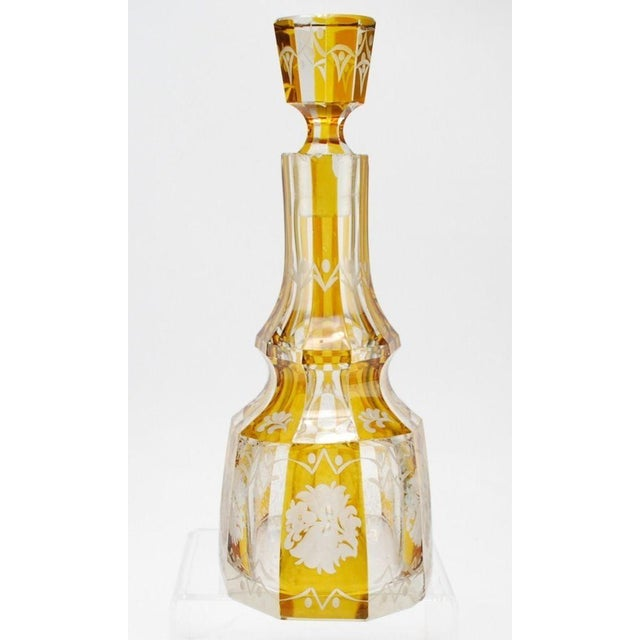 Art Deco Bohemian Decanter For Sale - Image 5 of 8