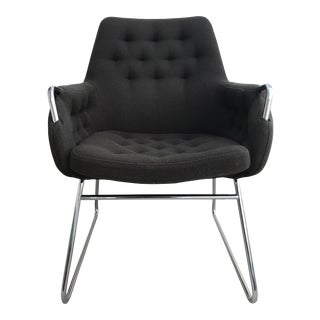Bruno Mathsson Mid-Century Modern Mirja 442 Upholstered Arm Chair For Sale