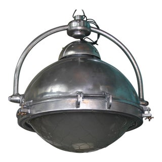 Large Steel and Bronze Toggle French Pendant Lights For Sale