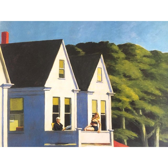 "Edward Hopper Edward Hopper Vintage 1999 Lithograph Calendar Print "" Second Story Sunlight "" 1960 For Sale - Image 4 of 9"