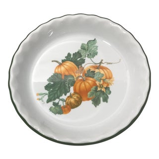 French Round Porcelain Quiche/Baking Dish For Sale