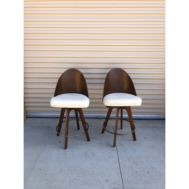 1960s Chet Beardsley Mid-Century Bar Stools - A Pair For Sale - Image 5 of 5
