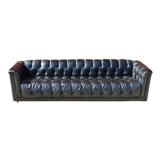 Black Vinyl Chesterfield