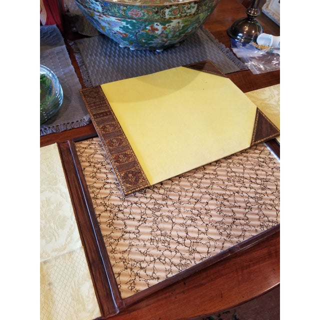 Antique Gilt Leather Double Folding Blotter For Sale In San Antonio - Image 6 of 13