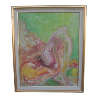 Abstract Female Nude Acrylic Painting For Sale