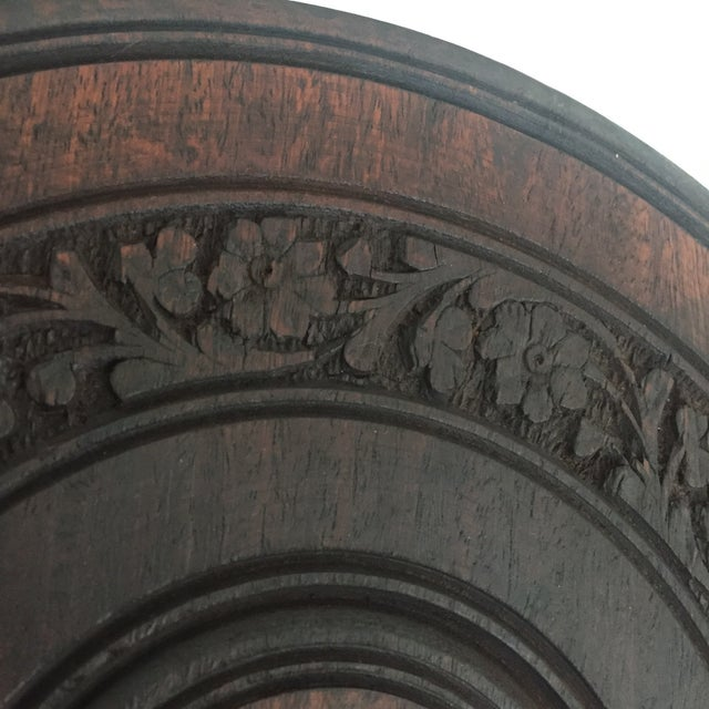 Floral Carved Chai Table - Image 7 of 9