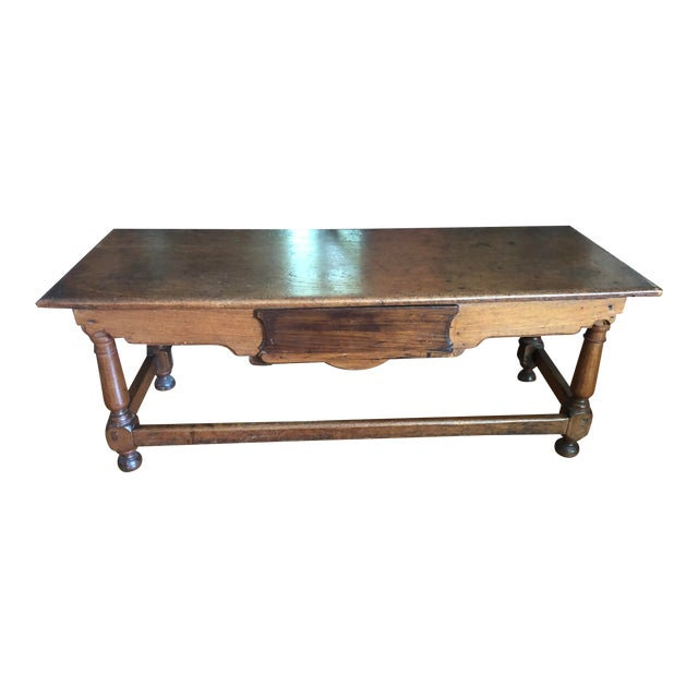 Antique French Henry II Style Walnut Low Boy Coffee Table For Sale