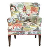 Image of Mid Century Robert Allen Chinoiserie Armchair For Sale