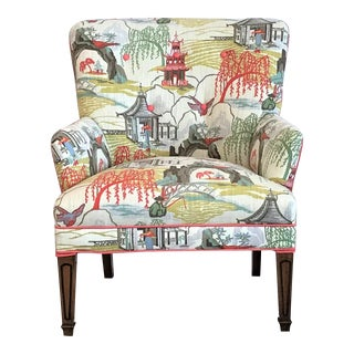 Mid Century Robert Allen Chinoiserie Armchair For Sale