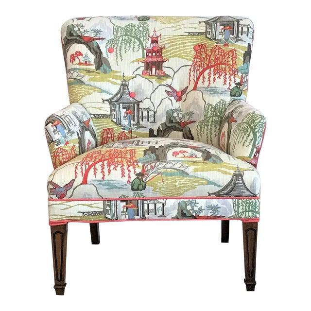 Mid Century Robert Allen Chinoiserie Armchair For Sale