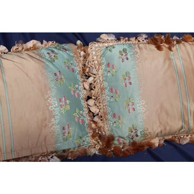 Mid 20th Century Mid 20th C. Pr. Of French Silk Chair Pillows For Sale - Image 5 of 7