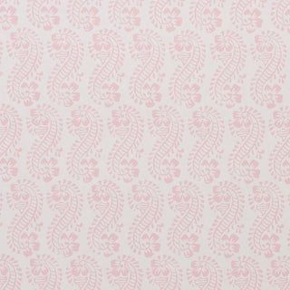 Sample - Schumacher x Molly Mahon Lani Wallpaper in Pink For Sale
