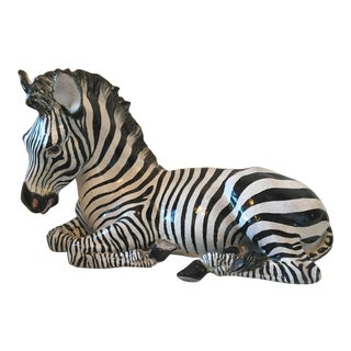 Life Size Zebra Statue For Sale